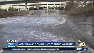 Traffic nightmares during storm - Video