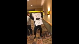 'Doodlebob' Spongebob Halloween costume takes staff party by storm