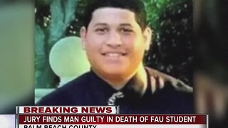 Jury finds man guilty in death of FAU student - Video
