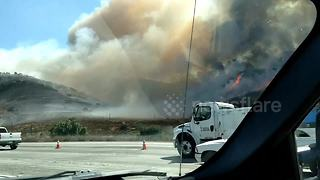 Canyon Fire rages in California - Video