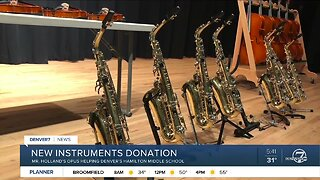Denver Middle School receives new, donated instruments