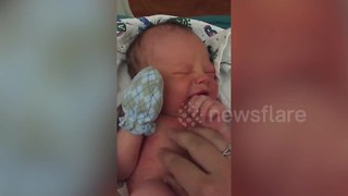 Woman shares final moments with newborn son before she gave him up for adoption - Video