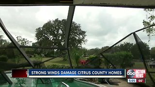 Strong winds damage Citrus County homes
