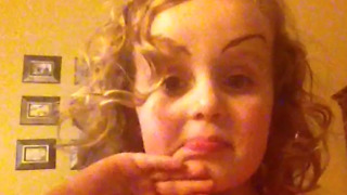 A Little Girl Doesn't Like Her Drawn On Eyebrows - Video