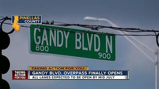 Part of Gandy Blvd overpass opens - Video