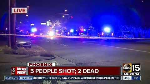Five shot, two dead near 27th and Dunlap avenues