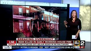 One dead after fire breaks out in Baltimore home - Video