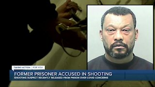 Former prisoner accused in shooting