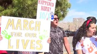 Rancho High students hold rally against gun violence after school - Video