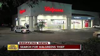 Masked man robs Tampa Walgreens of cigarettes - Video