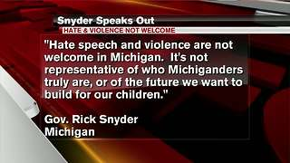 Snyder speaks out against hate after Virginia violence - Video