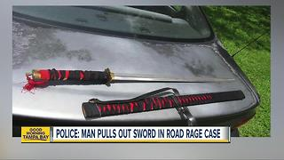 Police: Man threatens other driver with a samurai sword in a road rage attack