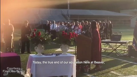 Flashback: Grad Defies HS Admin Who Told Her to Remove Jesus From Speech