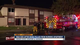 Man dies after being pulled from fire - Video