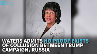 Waters Admits No Proof Exists Of Collusion Between Trump Campaign, Russia - Video