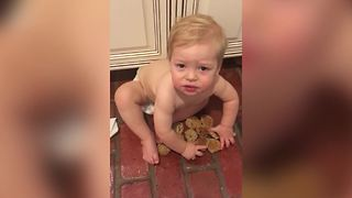 Baby Doesn't Share Cookies