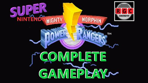 Mighty Morphin' Power Rangers: Complete gameplay for SNES