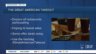 Restaurants hurt by coronavirus hope to boost sales during Great American Takeout Day