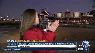 Hand clap turns off stadium light during live shot - Video