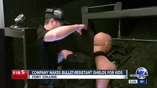 Colorado company making bullet-resistant shields for kids - Video