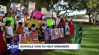 Schools across Northeast Ohio show support for Dreamers after Trump announces the end of DACA - Video