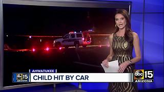 Young child struck by car in Ahwatukee - Video