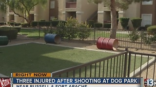 Three people hospitalized after dog park shooting