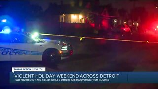 Violent holiday weekend across Detroit