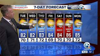 Latest Weather Forecast Monday 11 p.m. - Video