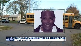 Neighbors upset after crossing guard injured in hit-and-run - Video