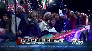 Parade of lights and festival draws thousands to Downtown Tucson - Video