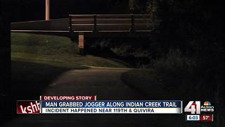 Woman says man grabbed her during Indian Creek Trail jog, but she escaped - Video