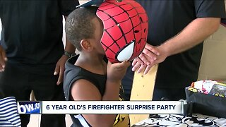 6 YEAR OLD'S FIREFIGHTER SURPRISE PARTY