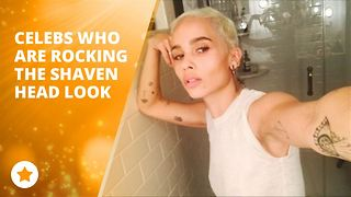 Celebs who are rocking the shaven hair look - Video