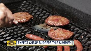 Expect cheap burgers this summer - Video