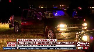 Man arrested after pursuit high-speed chase with OHP - Video