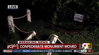 Confederate plaque in Franklin removed overnight - Video