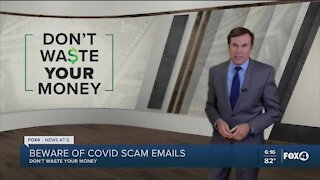 COVID email scam warning