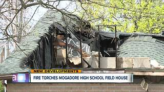 Fire torches Mogadore High School field house - Video