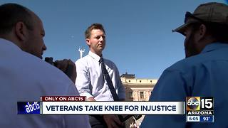 Veterans take knee for injustice at state capitol - Video