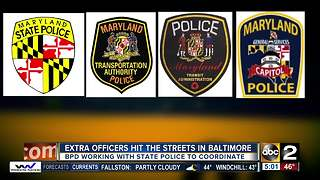 Baltimore Police coordinating extra state police officers in crime fight - Video
