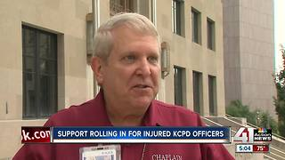 Support continues for KCPD officers' shot