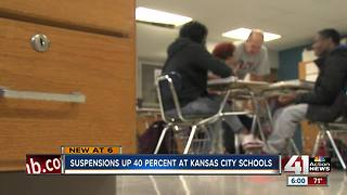 Suspensions up 40 percent at Kansas City schools - Video