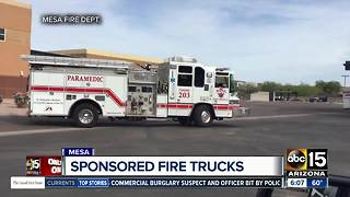 Mesa Fire Department allowing private businesses to sponsor trucks - Video