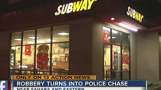 Robbery suspect arrested after high-speed chase - Video