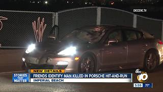 Friends I.D. man killed by teen driving Porsche - Video