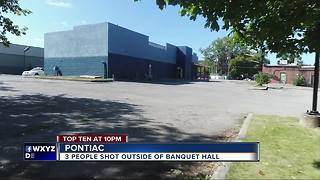Three people shot outside of metro Detroit banquet hall - Video