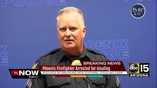 Phoenix firefighter arrested for stealing from co-workers - Video