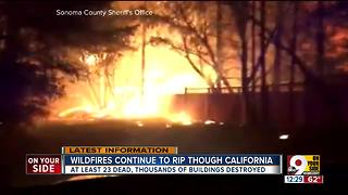 Wildfires continue to rip through California - Video