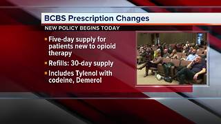 BCBS announces opioid policy change - Video